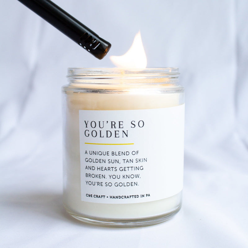 C&E - You're So Golden Soy Wax Candle - Scented Candle - Gift for Her C & E Craft Co