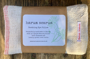 Washed Hungarian Linen Rosemary & Spearmint Flaxseed Eye Pillow