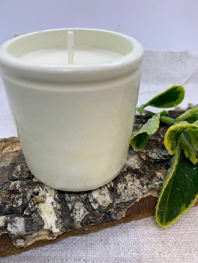 Apothecary Jar Soy Candle with Earl Grey & Cucumber fragrance