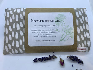 Grey Dashes Lavender Flaxseed Eye Pillow