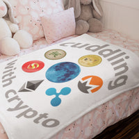 "Cuddling with Crypto Throw Blanket 50""x60"""