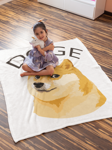 Doge Cryptocurrency Throw Blanket 50x60