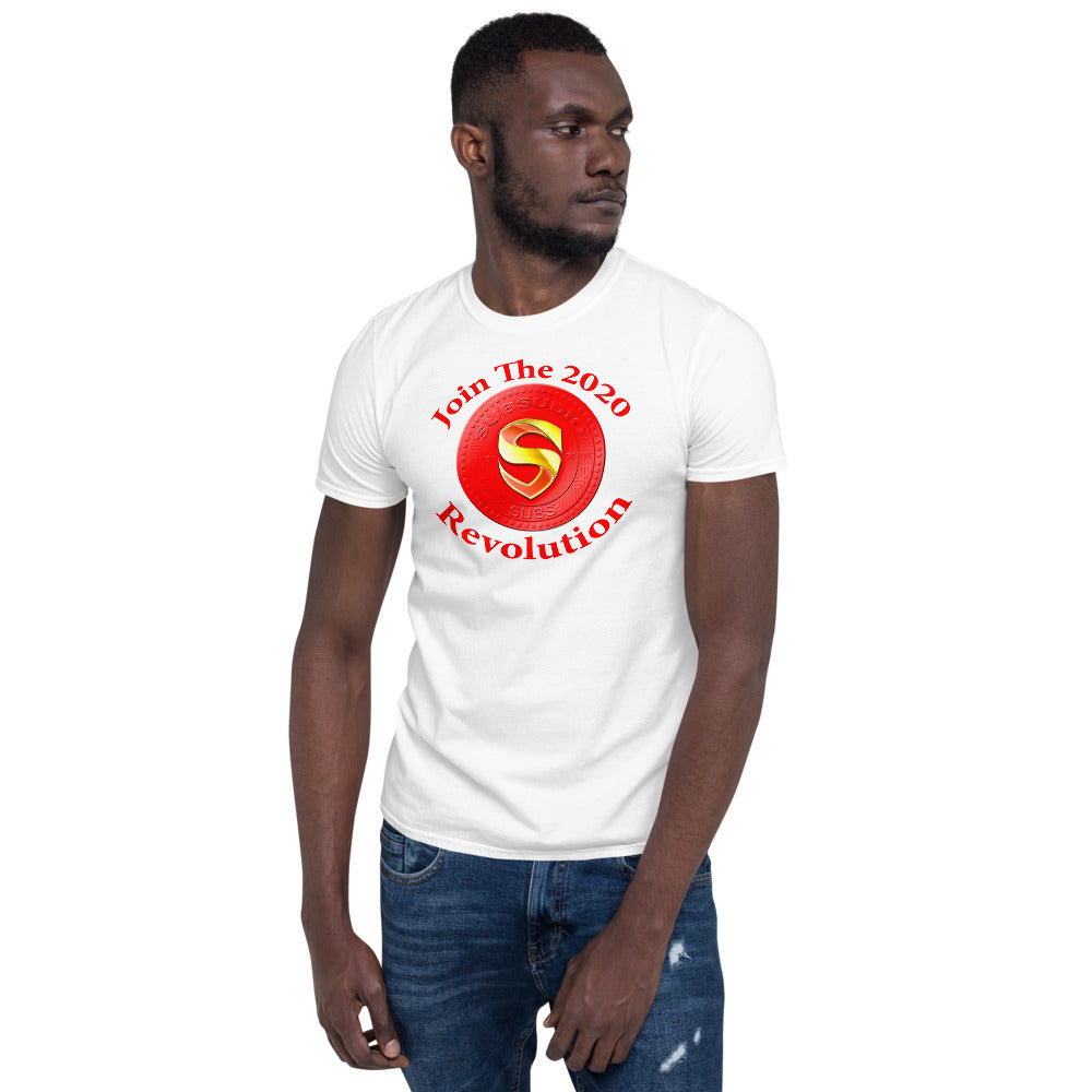 SubSudio 2020 Crypto Revolution Men's Cryptocurrency Short-Sleeve T-Shirt