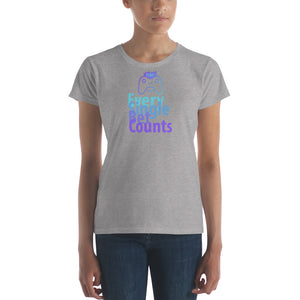 ESBC Every Single Bet Counts Women's Cryptocurrency Short-Sleeve T-Shirt