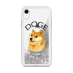 Doge Cryptocurrency Liquid Glitter iPhone Case