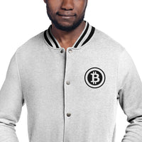 Bitcoin Cryptocurrency Embroidered Champion Bomber Jacket