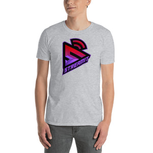 StreamIT Vloggers  Men's Cryptocurrency Short-Sleeve T-Shirt W/Purple Lettering