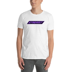 Trendy StreamIT W/White Lettering Men's Cryptocurrency Short-Sleeve T-Shirt