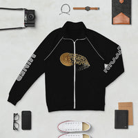 Bitcoin Miner Trendy Piped Fleece Jacket