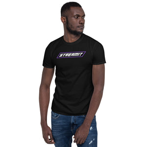 Trendy StreamIT W/Purple lettering Men's Cryptocurrency Short-Sleeve T-Shirt
