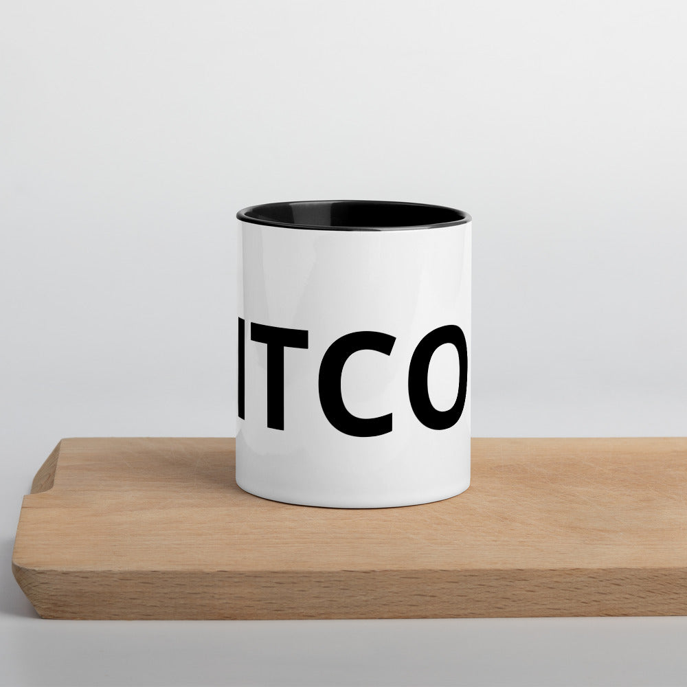 Sophisticated Bitcoin Coffee Mug with Black Interior