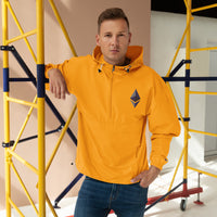 Ethereum Cryptocurrency Embroidered Champion Packable Jacket