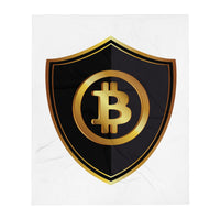 "BTC Bitcoin Cryptocurrency Throw Blanket 50""x60"""
