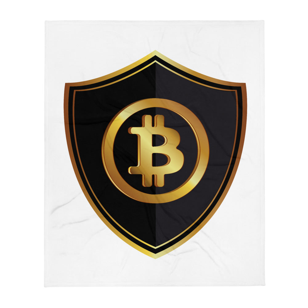BTC Bitcoin Cryptocurrency Throw Blanket 50