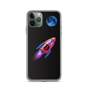 Bitcoin to the Moon Cryptocurrency iPhone Case