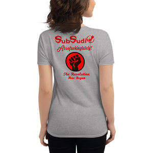 SubSudio The Revolution Has Begun Women's Cryptocurrency Short-Sleeve T-Shirt