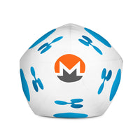 Ripple Monero Ether Cryptocurrency Bean Bag Chair w/ filling