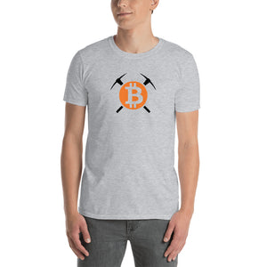 BTC Bitcoin Miner Men's Cryptocurrency Short-Sleeve T-Shirt