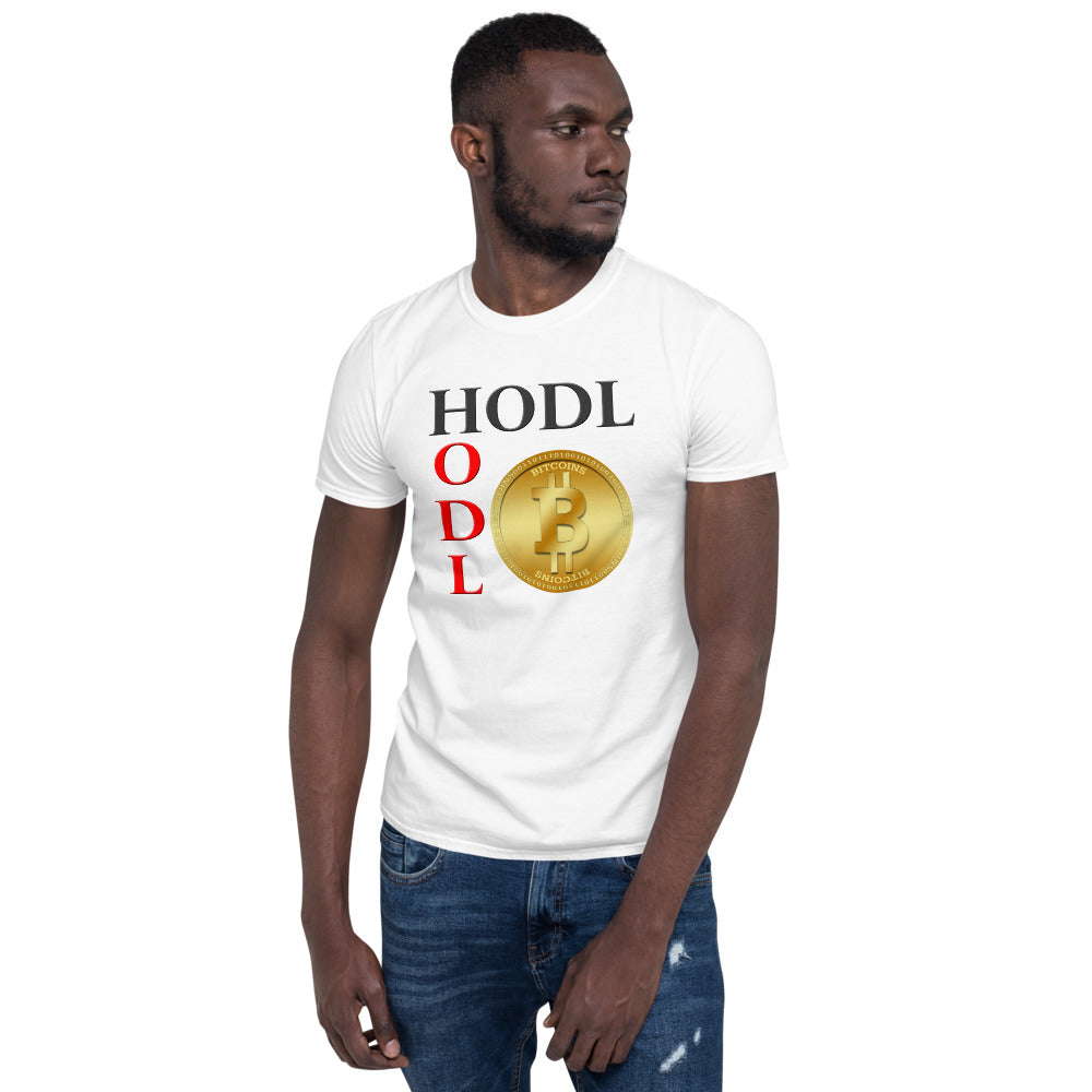 Bitcoin HODL Men's Cryptocurrency Short-Sleeve T-Shirt