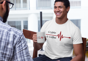 Crypto and Coffee Men's Cryptocurrency Short-Sleeve T-Shirt