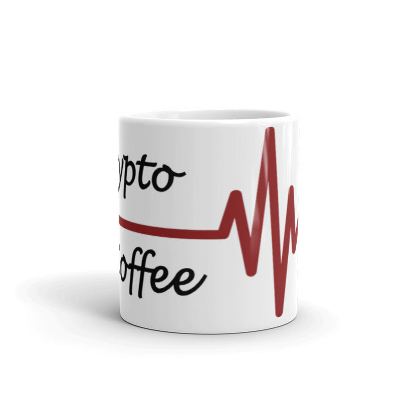 Crypto & Coffee Heartbeat Cryptocurrency Coffee Mug