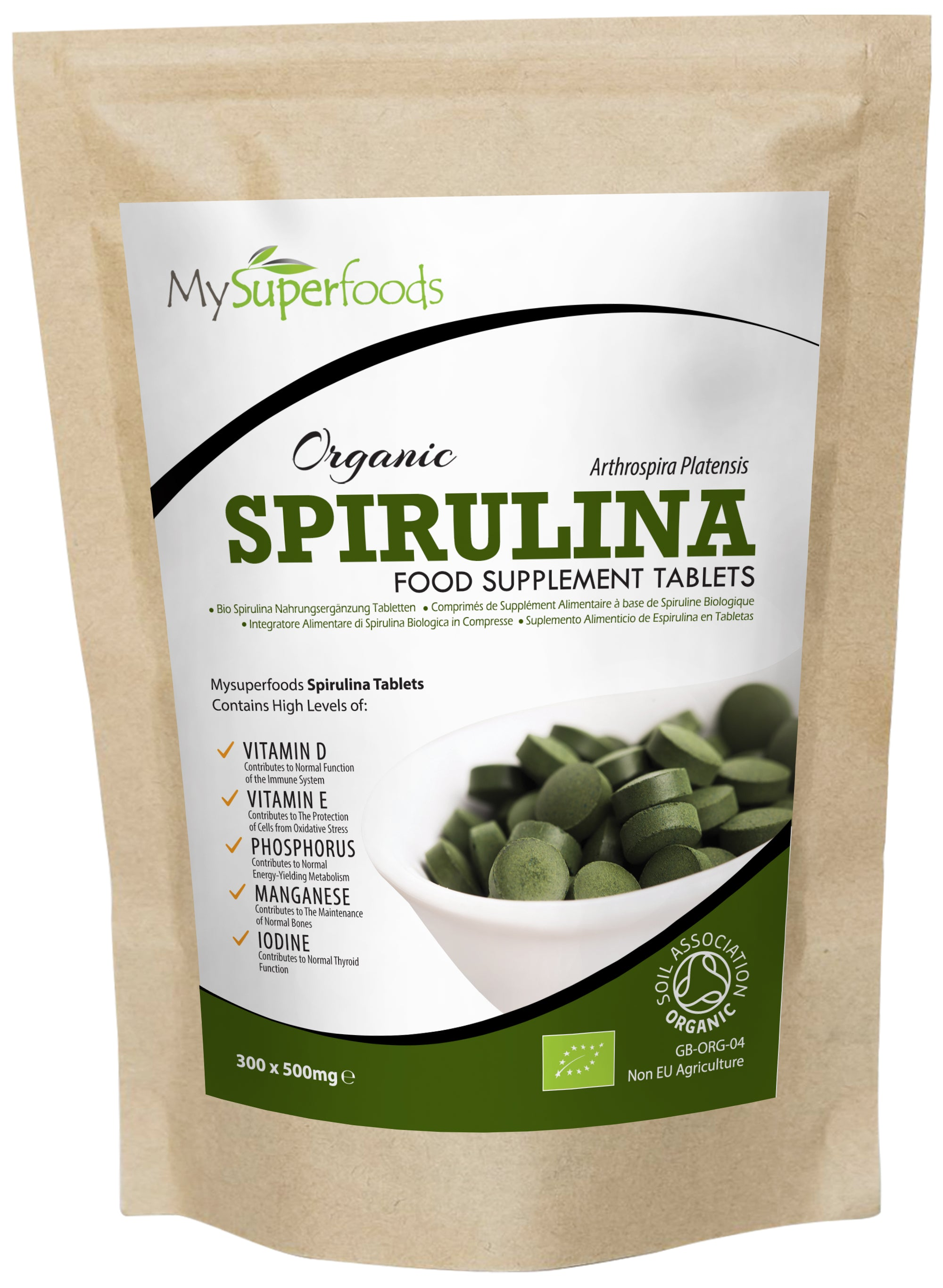 Compresse di Spirulina biologica (300 compresse x 500 mg)