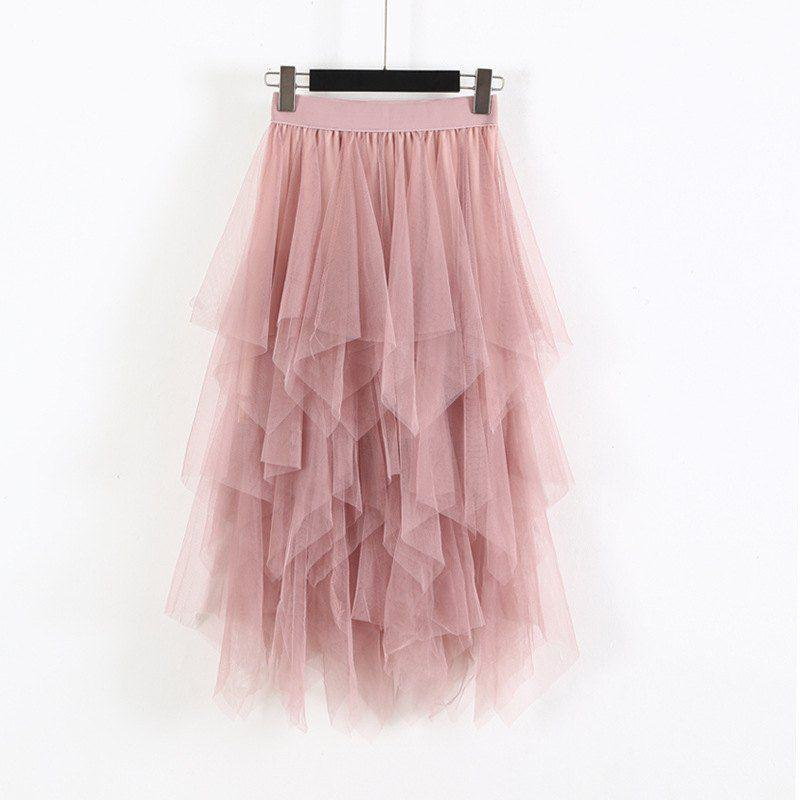 Elastic High Waist Skirts