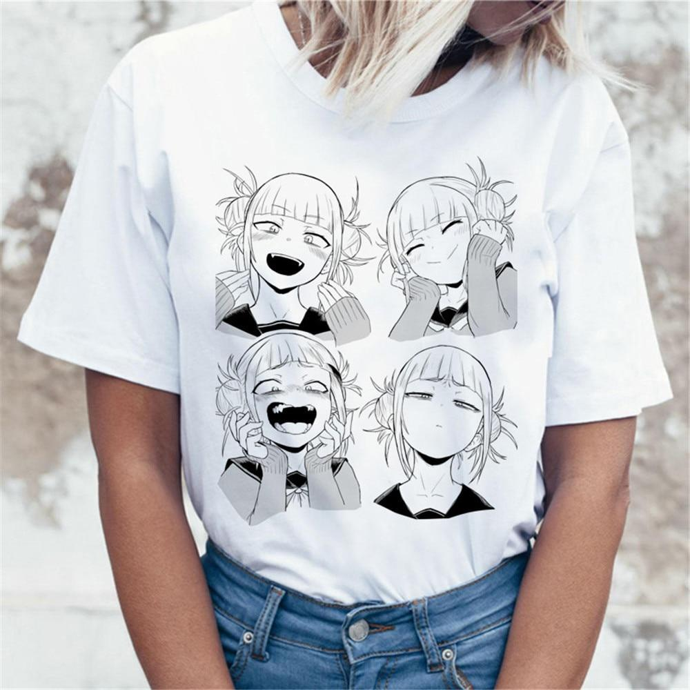Ahegao Cartoon T Shirt Women