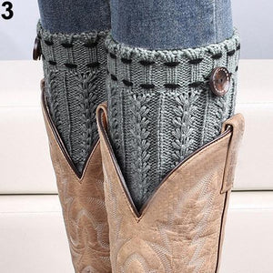 Warmer Knit Button Boot Socks Topper