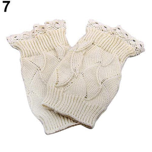 Women Winter Knit Toppers Lace