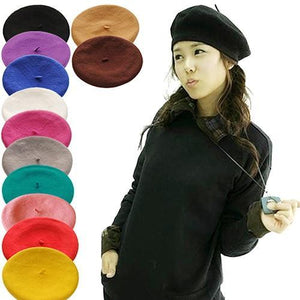 Solid Color  Women's Girl's Beret Cap