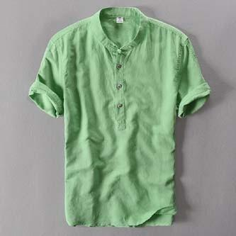 Summer Brand Shirt Men Short Sleeve