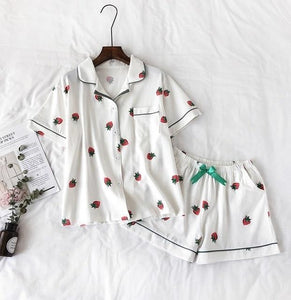 Summer Women Pajamas Suit