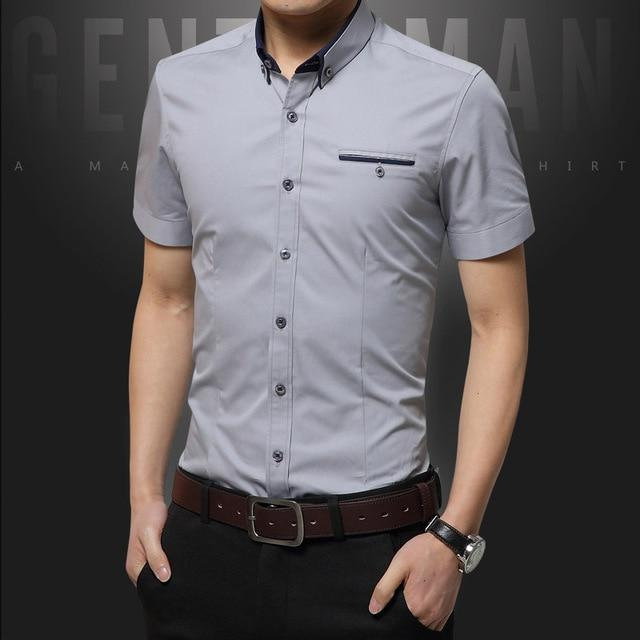 Summer  High Quality Mens Dress Shirts