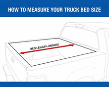 Load image into Gallery viewer, How to measure 2005-2013 nissan frontier bed for expandable tonneau cover