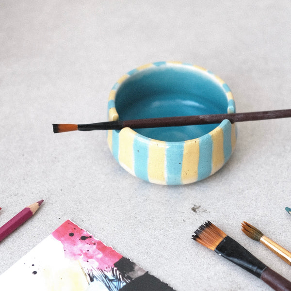 Brush Holder - Yellow+Blue
