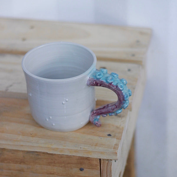 Purple & Teal Octo Mugs (Large)
