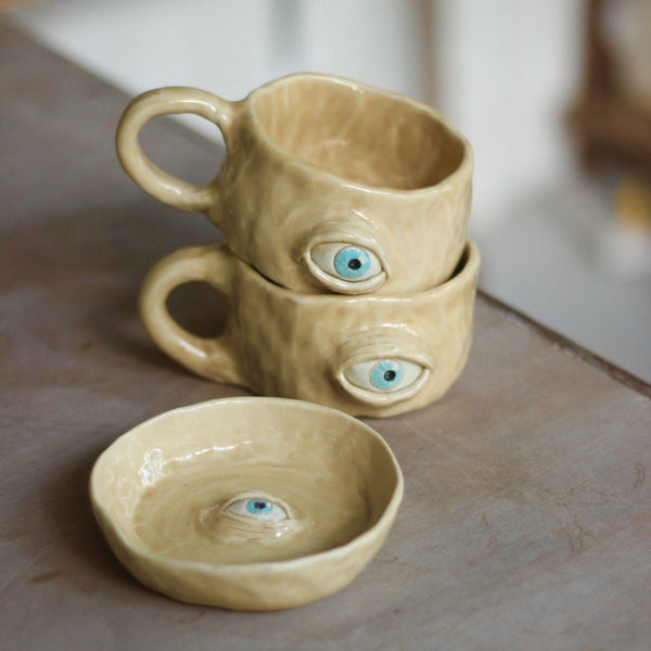 Eye Mugs and Platito Set