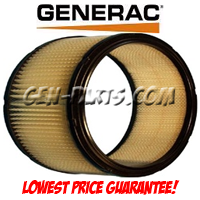 Generac Generator Part - 0A46370SRV - AIRCLEANER ELEMENT W/PLATE