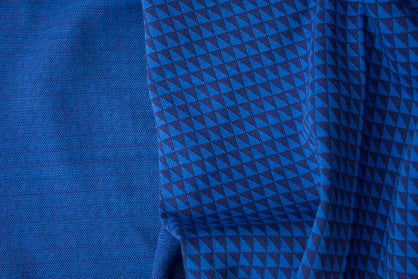 Lily Balou - Jacquardtricot Triangles Blue