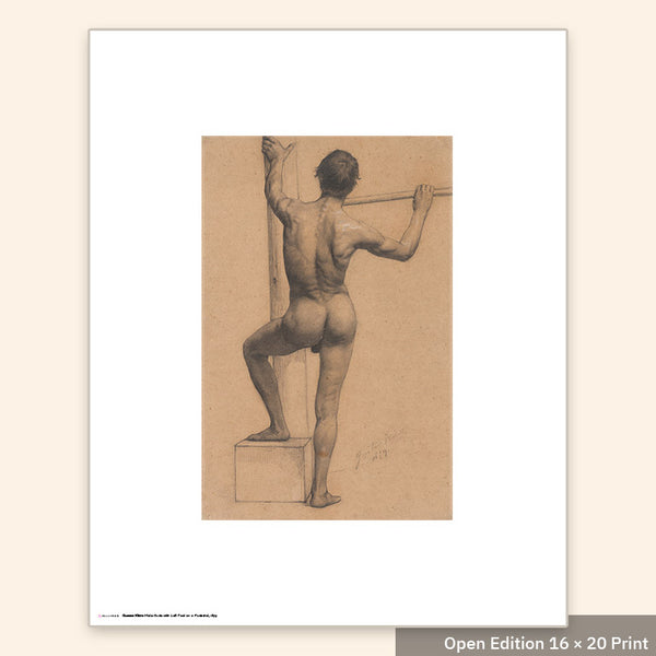 Male Nude with Left Foot on a Pedestal