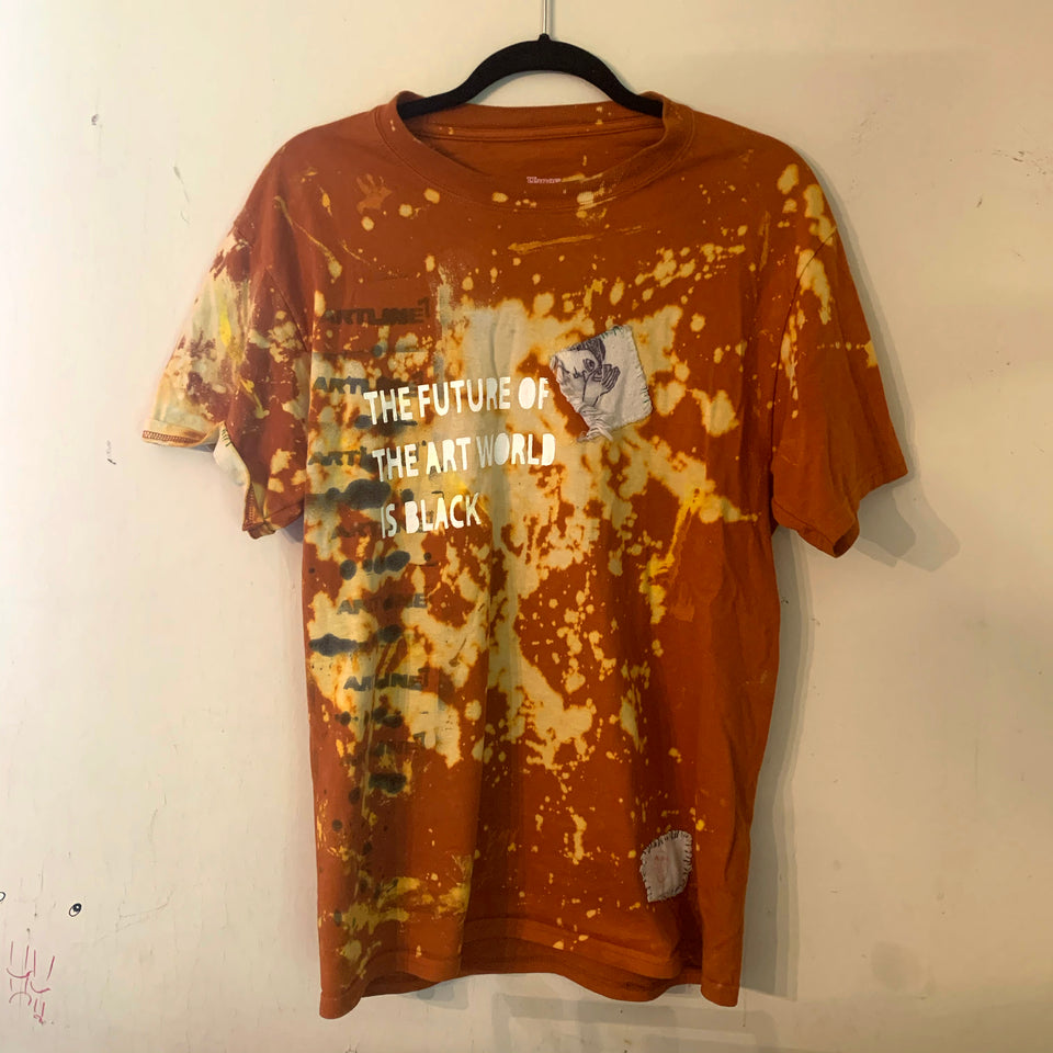 Mixed media short sleeve shirt ( the future of the art world is Black )