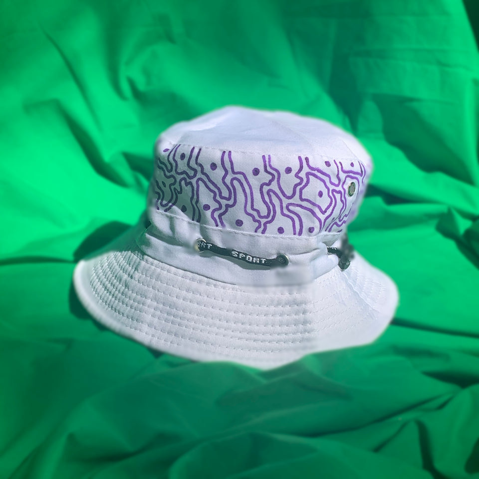 White & Purple Matter bucket hat