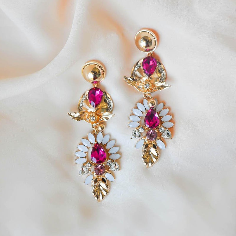 PINK ZALIKI JEWEL EARRINGS