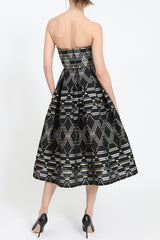 Midi-dress with geometric pattern
