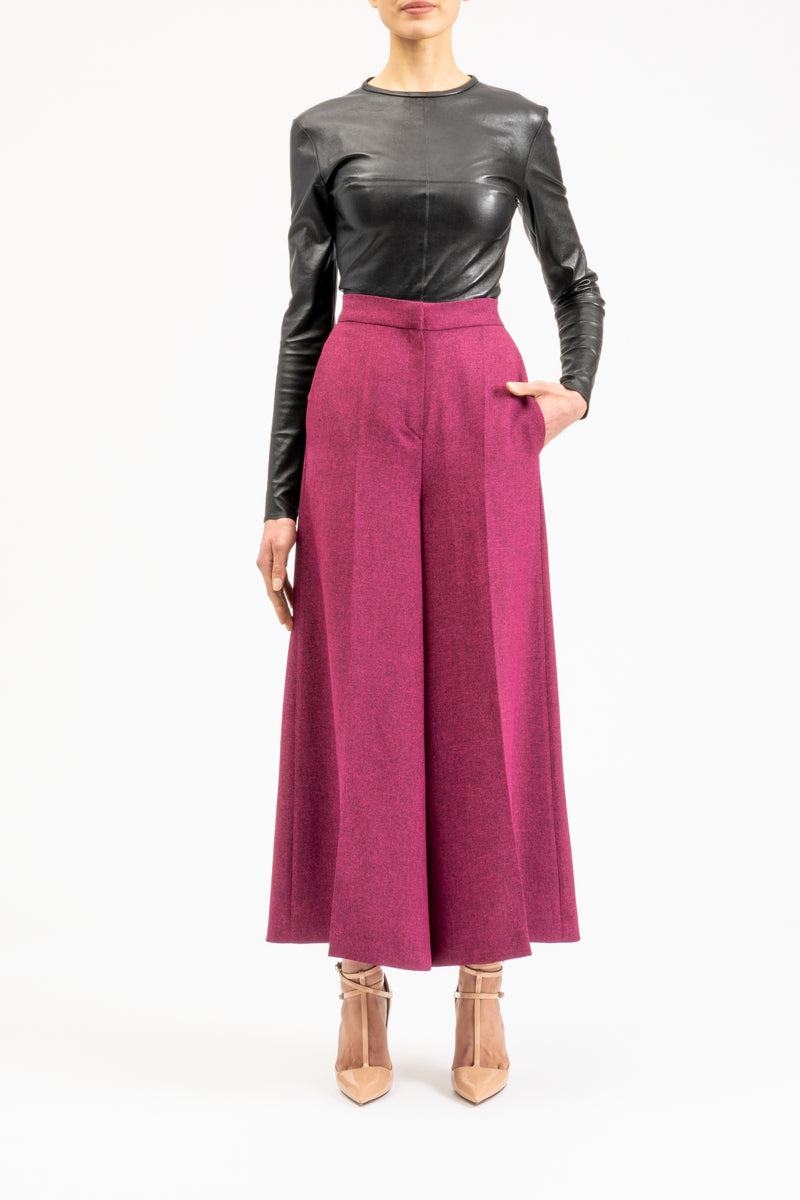 Ankle-length culottes
