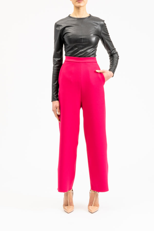 Pink straight pants