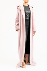 Loose fit floor length coat