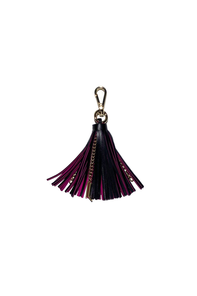 Two-color leather tassel