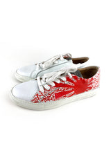 Painted white sneaker